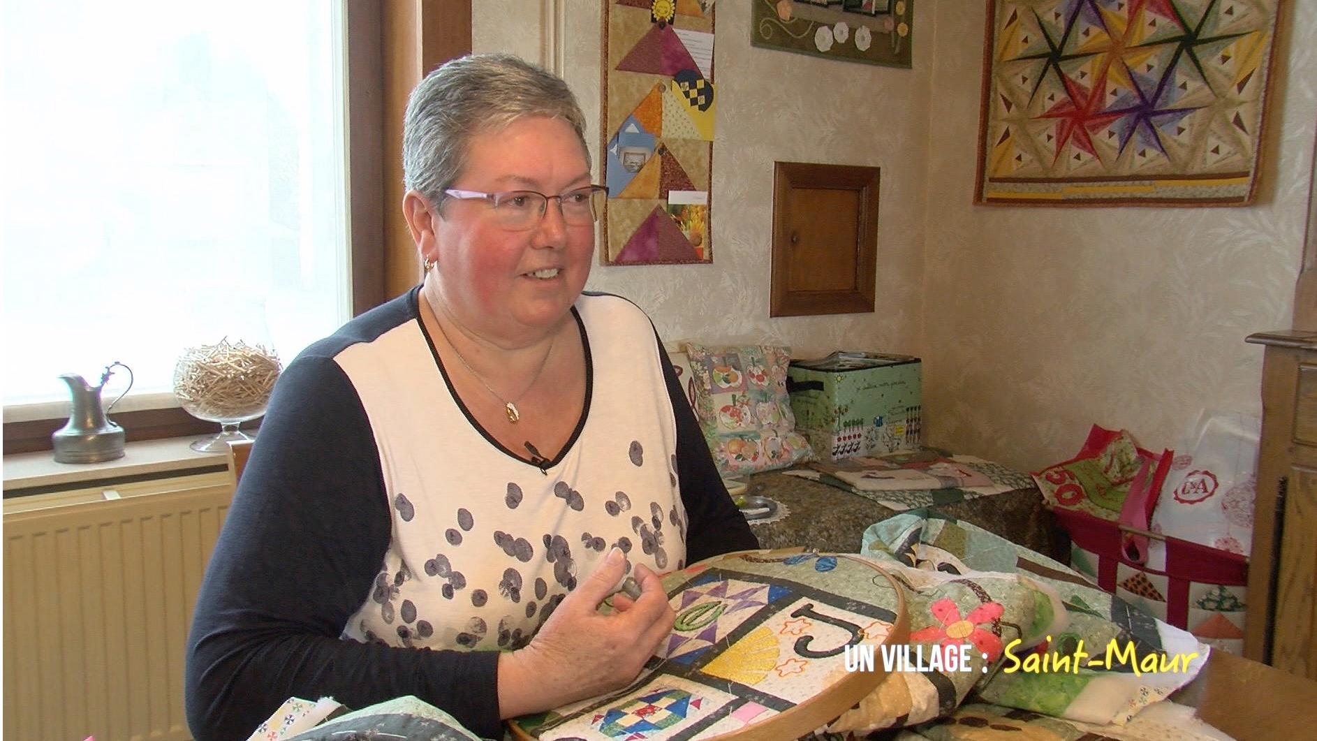 Marie-Cécile partage sa passion du patchwork