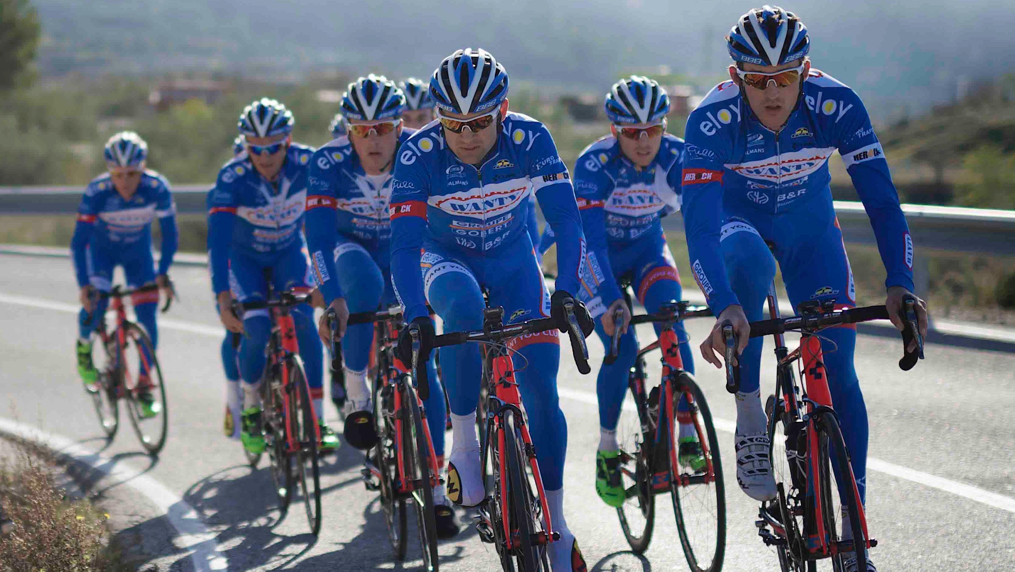 La formation Wanty Groupe Gobert au Tour de France 2017