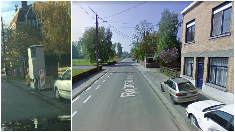 Un LIDAR installé sur la route d'Anseroeul à Amougies