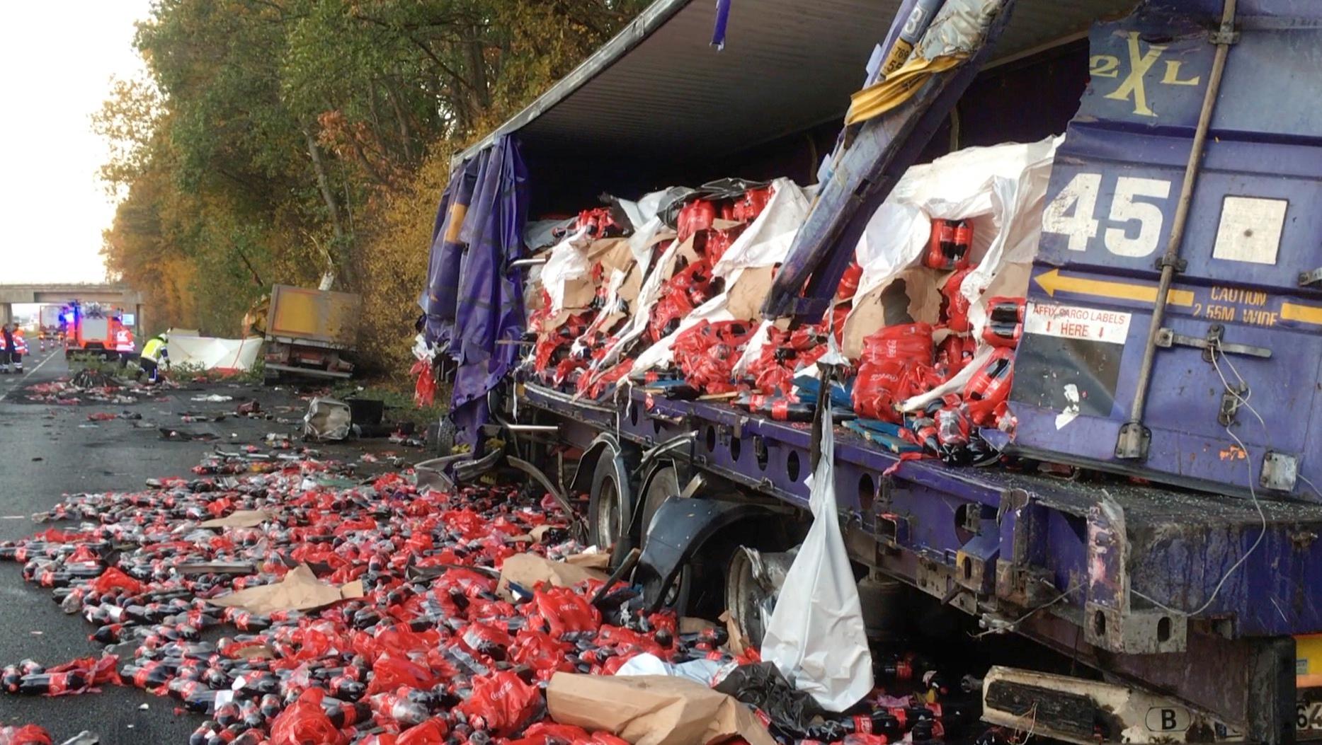 Gros accident sur l'A17 à hauteur de Marquain : un conducteur belge est décédé