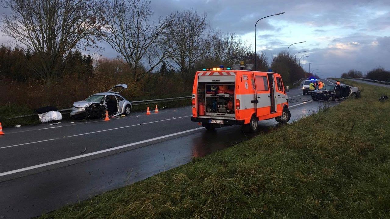 Accident frontal sur la N56: deux blessés graves
