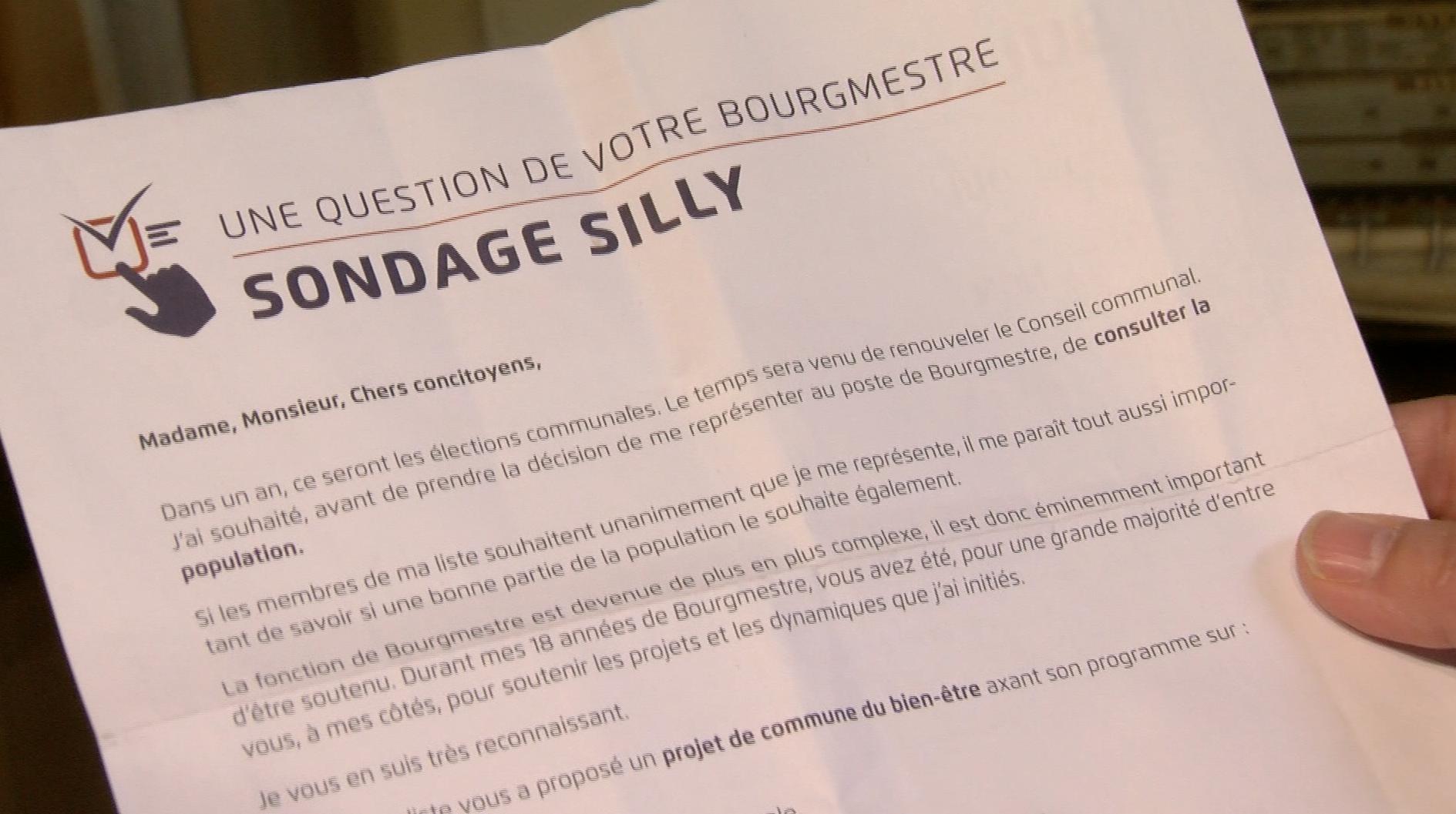 Silly : Les résultats du sondage seront connus le 4 novembre
