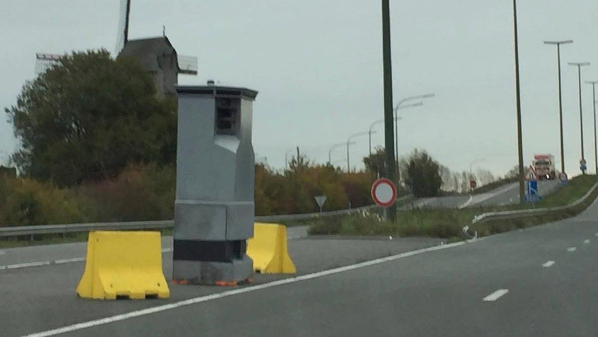 Un lidar installé à Comines, le long de la RN58