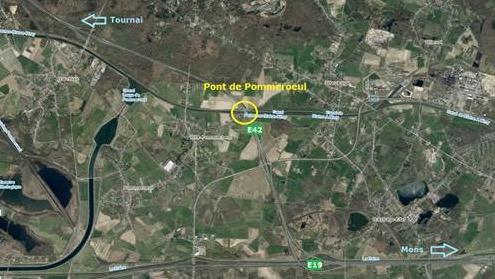 E42: le pont de Pommeroeul à nouveau fermé ce week-end