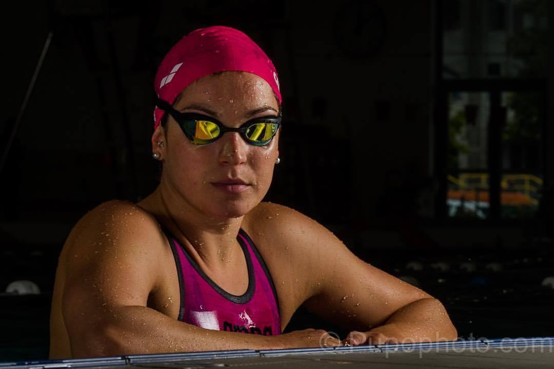 Fanny Lecluyse en finale du 100 m brasse à l'Euro