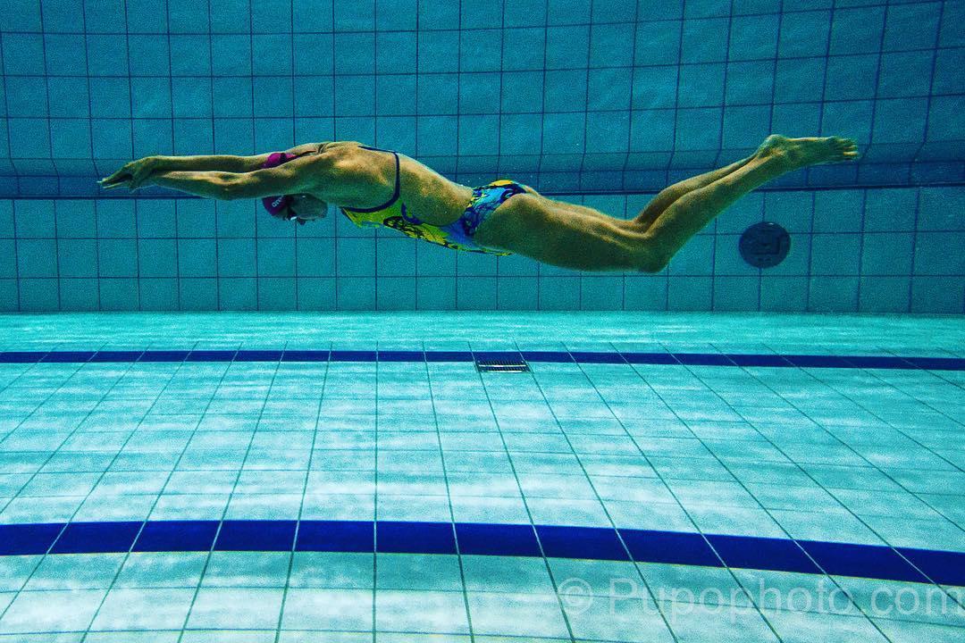 Fanny Lecluyse 7ème du 100 m brasse à l'Euro