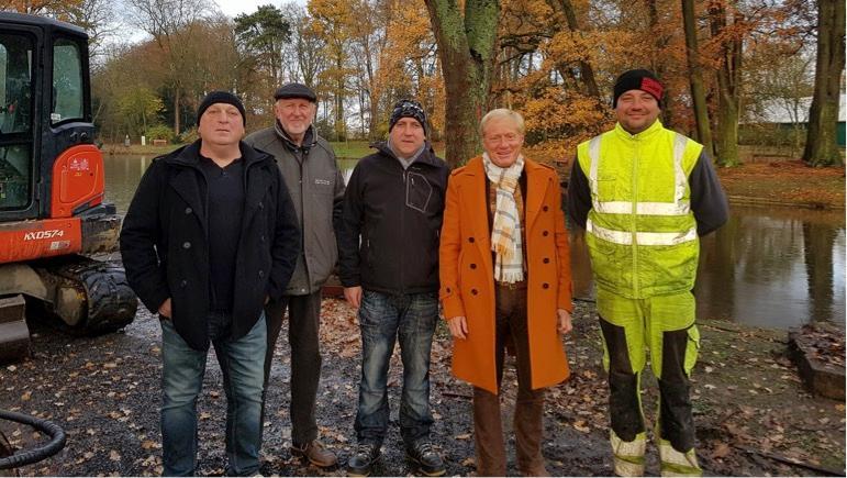 Les travaux de réfection des berges de l'étang du parc d'Estaimbourg ont débuté