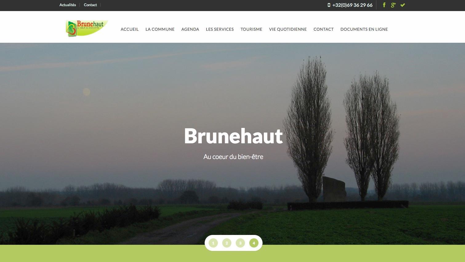 Cure de jouvence pour le site Internet de Brunehaut