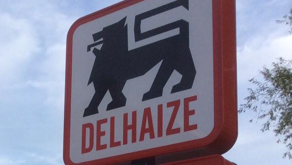 Grève au magasin Delhaize d'Enghien