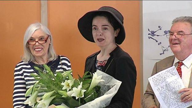 Amélie Nothomb à la bibliothèque de Pecq le 4 mai