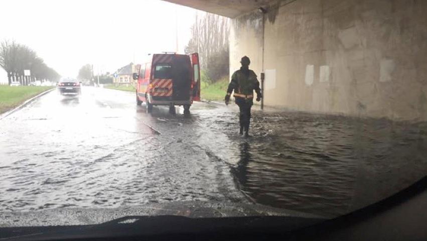 Inondation sous le pont de Dottignies: la 6e fois en 6 jours !
