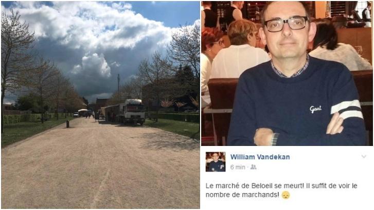 """Pour le président de la section cdH de Beloeil le marché """"se meurt"""""""
