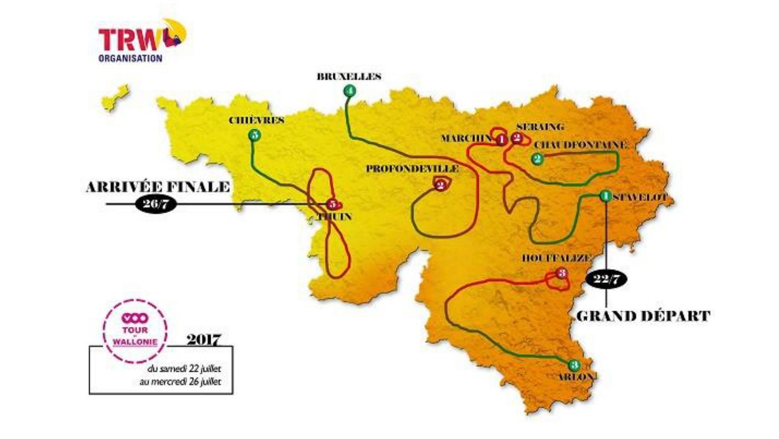 Le VOO Tour de Wallonie se terminera en Wallonie picarde