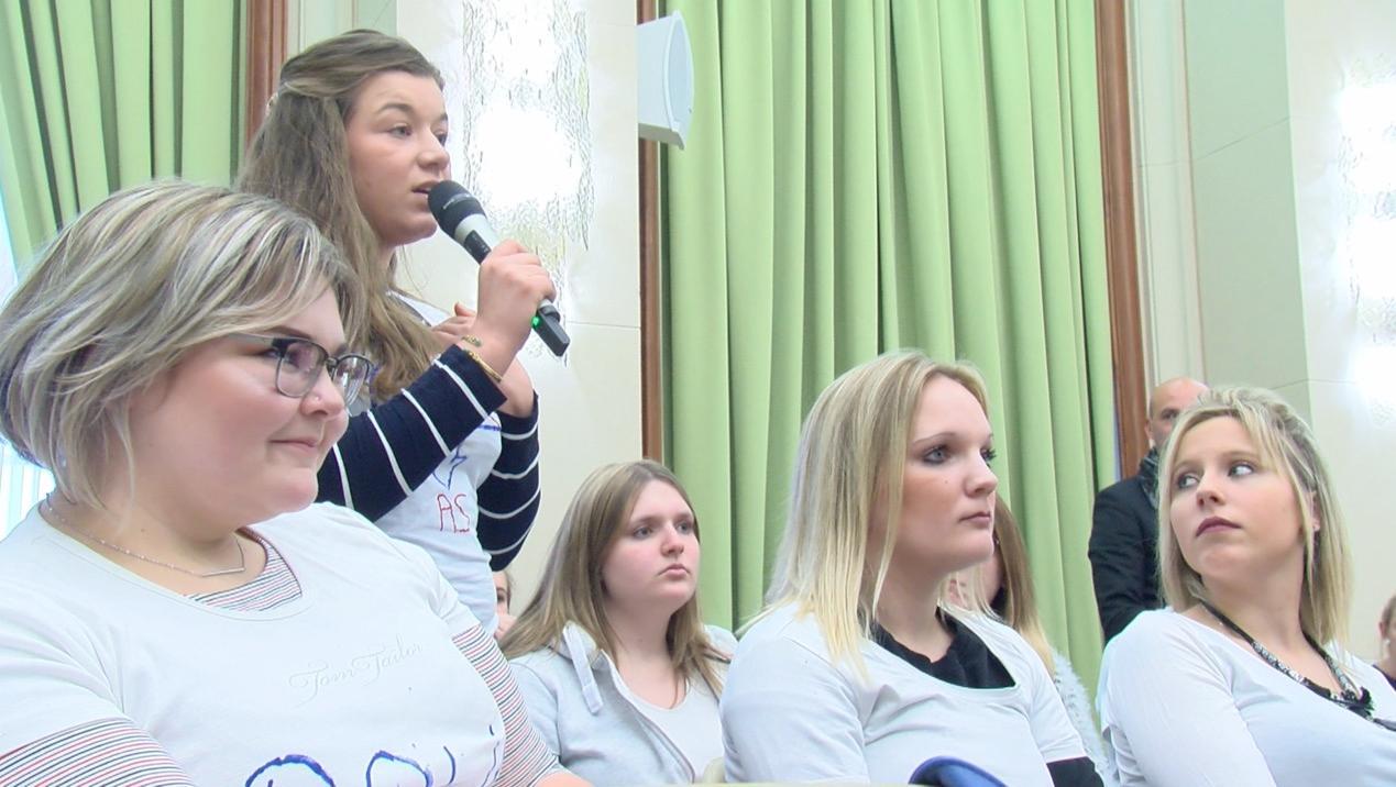Les étudiants de la HEH protestent contre un nouveau projet de loi