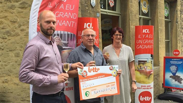 Un Péruwelzien remporte le jackpot Lotto d'un million d'euros