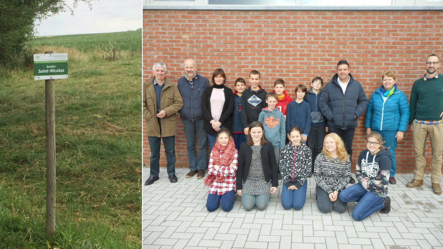 Les élèves de l'école d'Oeudeghien ont réhabilité le sentier St Nicolas