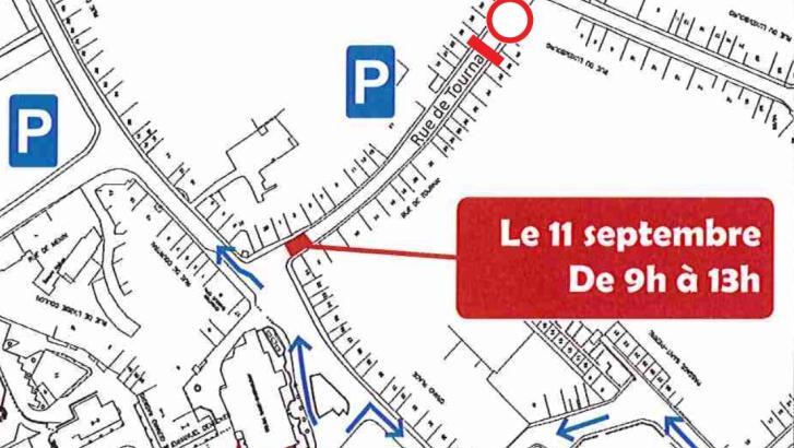 La rue de Tournai fermée lundi matin