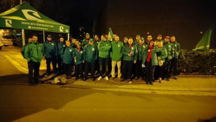 Le centre de distribution du courrier de Froyennes en grève