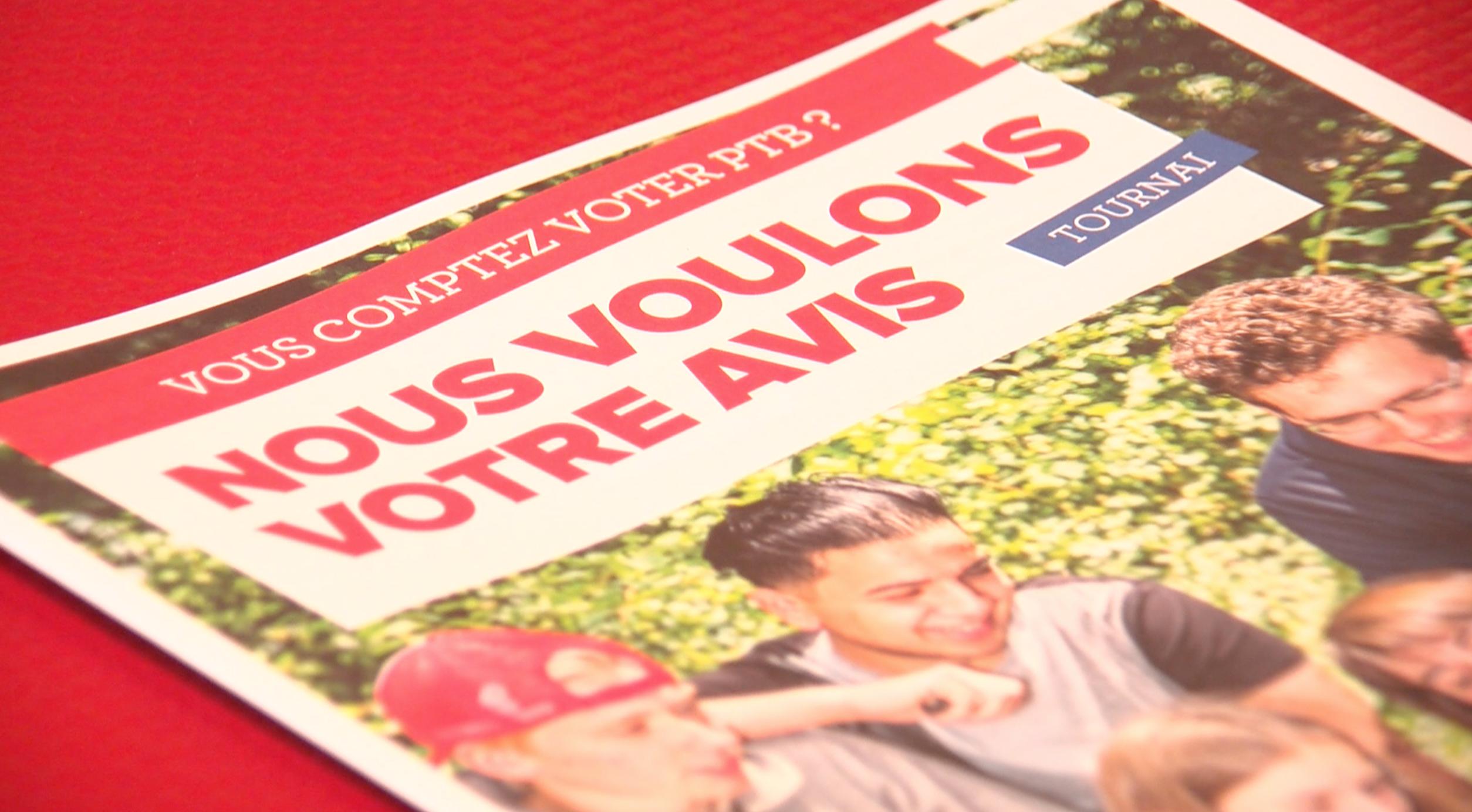 Le PTB Tournai lance une enquête électorale