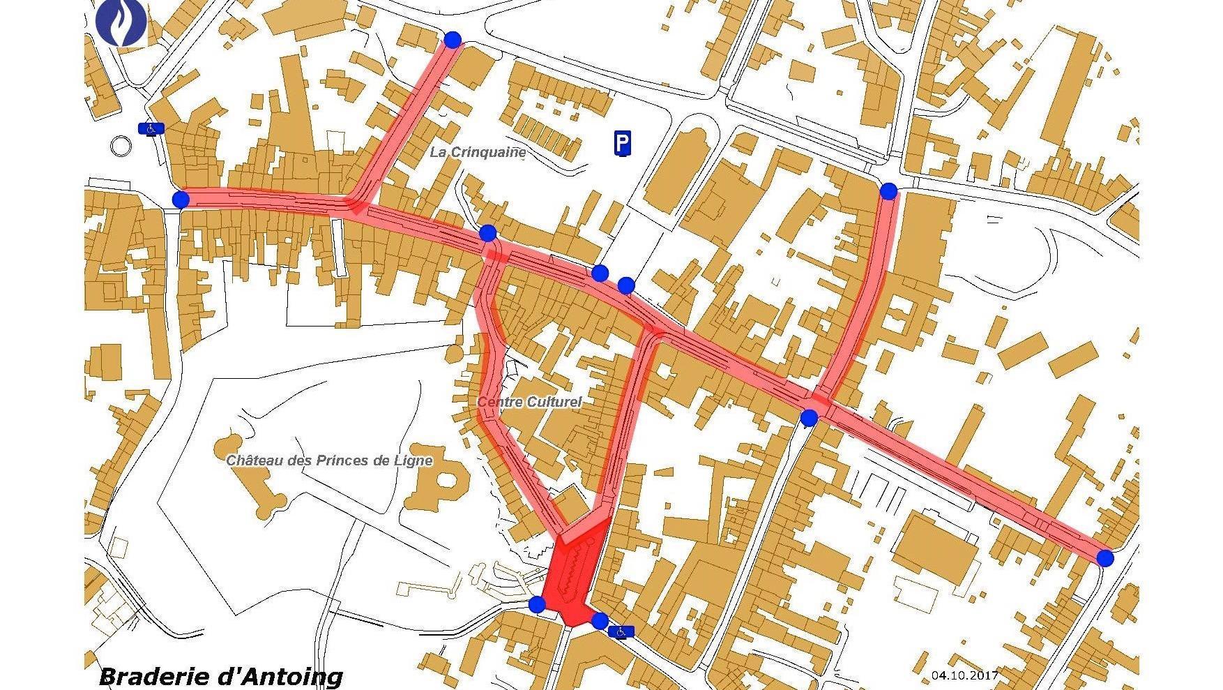 Braderie d'Antoing : le coeur de la ville sera interdit à la circulation