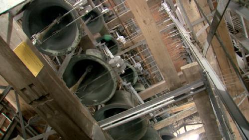 Le carillon de Saint-Julien en pleine restauration
