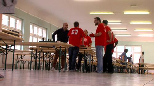 Derniers préparatifs pour l'accueil des demandeurs d'asile à la caserne St Jean