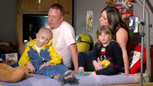 Gabriel se bat contre le cancer de l'enfant