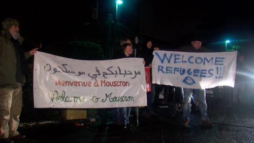 Arrivée des premiers demandeurs d'asile au Refuge