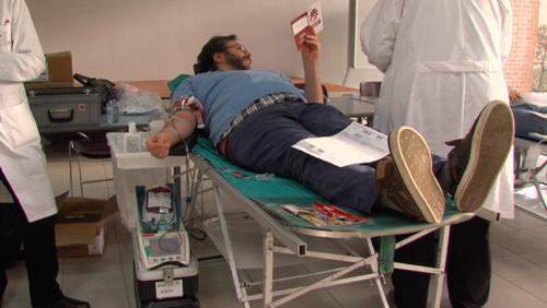 Collecte de sang à la CSC