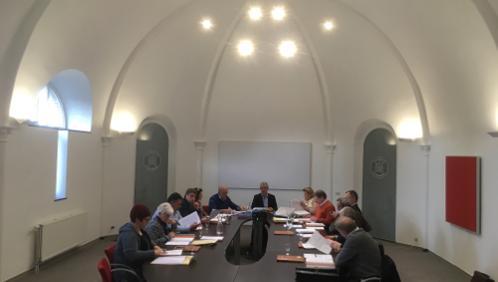 Première réunion dans la nouvelle salle du conseil