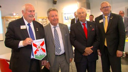 Le président international du Lions Club en visite à La Cassine