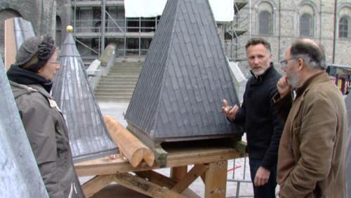Tournai : démonstration de toiture en plomb