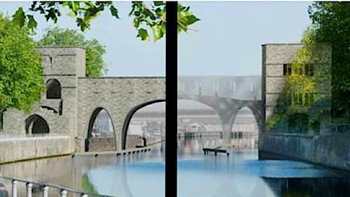 Le cdH tient aux 3 arches en pierre du Pont des Trous