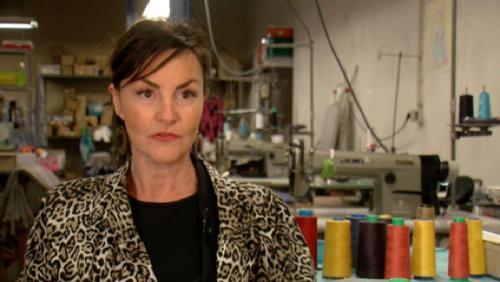 Portrait de Cathy Pollet, créatrice de vêtements