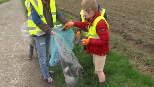 Grand ramassage de déchets à Celles