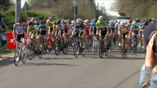 Course cycliste Juniors à Wodecq