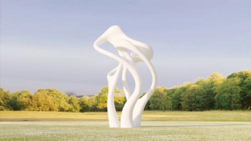 Une sculpture contemporaine au coeur du village d'Amougies