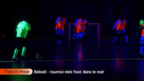 Tournoi de mini foot dans le noir