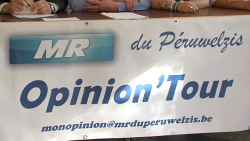 Le MR du Péruwelzis lance son Opinion'Tour