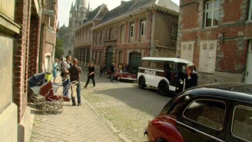 """Le tournage des """"petits meurtres d'Agatha Christie"""" à Tournai"""