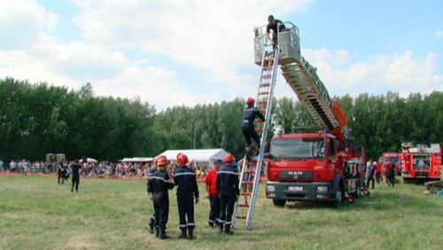Démonstration des cadets sapeur-pompier