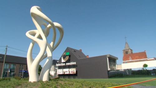 La sculpture de Nick Ervinck est inaugurée