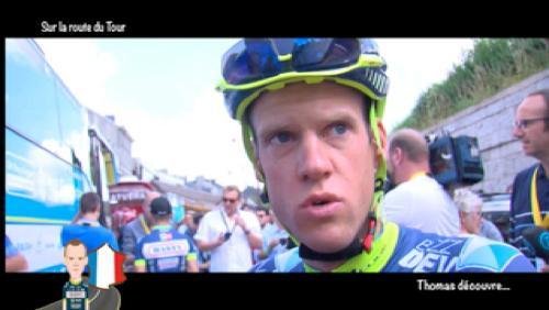 Thomas Degand découvre le Tour de France