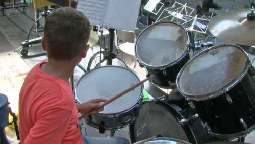 Le camp musical anime l'école du village