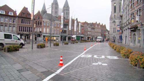La Grand-Place de Tournai en sens unique à partir du 15 août