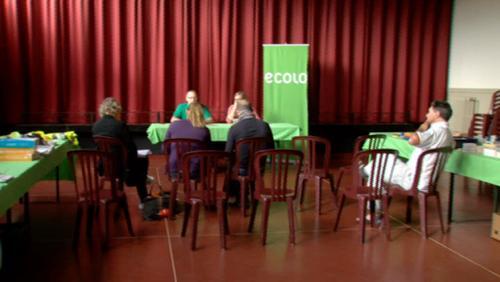 Conférence de presse Ecolo à Frasnes