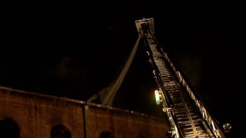 Important Incendie sur l'ancien bâtiment du Rucher