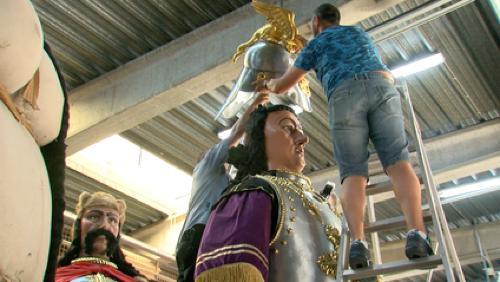 Les géants se préparent pour la Ducasse