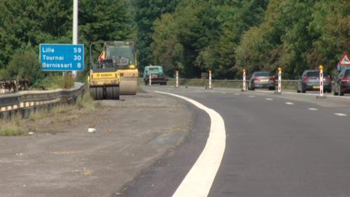 Début des travaux sur autoroute E42 à hauteur de Pommeroeul