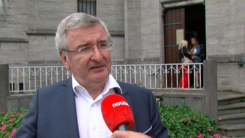 Le ministre René Collin en visite à Péruwelz